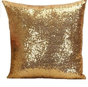 Other - GOLD sequin pillow case